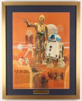Vintage 1977 Coca Cola Star Wars 24x30 Custom Framed Poster Display at PristineAuction.com