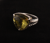 Sterling Silver Ouro Verde Rope Detail Ring-SZ 7 at PristineAuction.com