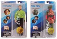 "Lot of (2) Signed ""Star Trek"" Figures with William Shatner & Bobby Clark (JSA COA) at PristineAuction.com"