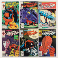 "Consecutive Lot of (6) 1988 ""The Amazing Spider-Man"" Marvel Comic Books with #304-#309 at PristineAuction.com"