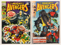 "Lot of (2) 1969 ""The Mighty Avengers"" Marvel Comic Books with #67 & #69 at PristineAuction.com"