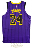 Kobe Bryant Signed Los Angeles Lakers 2019 City Edition Black Jersey (Panini COA) at PristineAuction.com