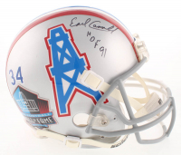 "Earl Campbell Twice-Signed Houston Oilers / Texas Longhorns Split Full-Size Authentic On Field Helmet Inscribed ""HOF 91"" & ""H.T. 77"" (Beckett COA) at PristineAuction.com"