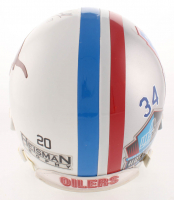 """Earl Campbell Twice-Signed Houston Oilers / Texas Longhorns Split Full-Size Authentic On Field Helmet Inscribed """"HOF 91"""" & """"H.T. 77"""" (Beckett COA) at PristineAuction.com"""