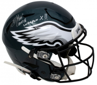 "Brian Dawkins Signed Philadelphia Eagles Full-Size Authentic On-Field SpeedFlex Helmet Inscribed ""HOF '18"" & ""Weapon X!!"" (JSA COA) at PristineAuction.com"