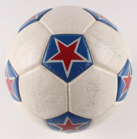 1977 New York Cosmos Soccer Ball Signed by (7) with Pele, Franz Beckenbauer, Eddie Firmani, Carlos Alberto, Werner Roth (Beckett LOA) at PristineAuction.com