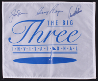 Jack Nicklaus, Arnold Palmer & Gary Player Signed Golf Pin Flag (Beckett LOA) at PristineAuction.com