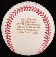 Aaron Judge Signed LE OML Engraved Career Stat Baseball (JSA LOA) at PristineAuction.com