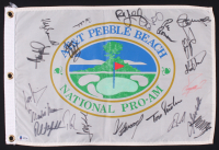 2001 Pebble Beach Pro-AM Golf Pin Flag Signed by (21) with Donald Trump, Clint Eastwood, Alice Cooper, Phil Mickelson, Ray Ramano (Beckett LOA) at PristineAuction.com