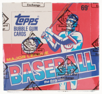 1985 Topps Baseball Cello Wax Box in 1988 Topps Display (BBCE Certified) at PristineAuction.com