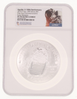 2019-P $1 Apollo 11 50th Anniversary Commemorative 5 oz Silver Coin - Early Releases (NGC PF 70 Ultra Cameo) at PristineAuction.com