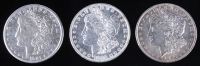 Lot of (3) Morgan Silver Dollars with 1886, 1896, & 1921-S at PristineAuction.com