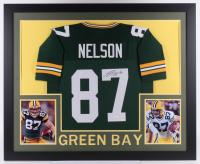 Jordy Nelson Signed 35x43 Custom Framed Jersey (JSA COA) at PristineAuction.com