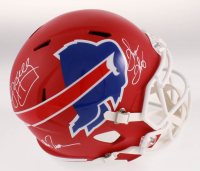 Jim Kelly, Thurman Thomas & Andre Reed Signed Buffalo Bills Full-Size AMP Speed Helmet (JSA COA) at PristineAuction.com