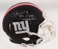 """Lawrence Taylor Signed Giants Full-Size Authentic On-Field Matte Black Speed Helmet Inscribed """"I'm A Bad MotherF****r"""" (JSA COA) at PristineAuction.com"""