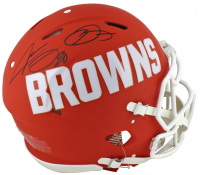 Odell Beckham Jr. & Jarvis Landry Signed Cleveland Browns Full-Size Authentic On-Field AMP Alternate Speed Helmet (Beckett COA) at PristineAuction.com