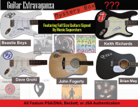Guitar Extravaganza Mystery Box. Series 1 - Featuring Full-Size Guitars Signed by Music Superstars at PristineAuction.com