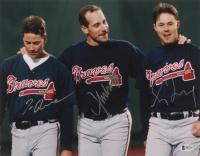 Greg Maddux, Tom Glavine & John Smoltz Signed Atlanta Braves 11x14 Photo (Beckett LOA) at PristineAuction.com