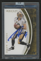 2018 Panini Honors Recollection Collection #386 Drew Brees / 2016 Immaculate Base #81 at PristineAuction.com