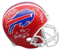 "Jim Kelly, Thurman Thomas & Andre Reed Signed Bills Full-Size Helmet Inscribed ""HOF 02"", ""HOF 07"" & ""HOF 14"" (Beckett COA) at PristineAuction.com"