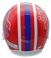 "Jim Kelly, Thurman Thomas & Andre Reed Signed Bills Full-Size Helmet Inscribed ""HOF 02"", ""HOF 07"" & ""HOF 14"" (Beckett COA) at PristineAuction.com"