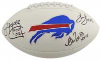 "Jim Kelly, Thurman Thomas, & Andre Reed Signed Buffalo Bills Logo Football Inscribed ""HOF 02"", ""HOF 07"", & ""HOF 14"" (Beckett COA) at PristineAuction.com"