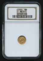 1853 $1 Liberty Head Gold Coin (NGC MS 61) at PristineAuction.com