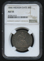 1846 50¢ Seated Liberty Half Dollar - Medium Date (NGC AU 55) at PristineAuction.com