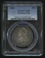 1809 50¢ Capped Bust Half Dollar - Overton 115a (PCGS VF 20) at PristineAuction.com