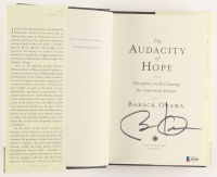 "Barack Obama Signed ""The Audacity of Hope"" Hardcover Book (Beckett Hologram) at PristineAuction.com"