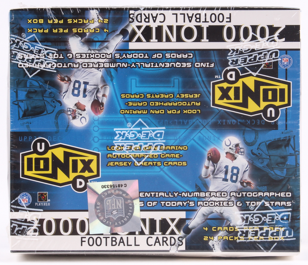 2000 Upper Deck Ionix Football Unopened Hobby Box with (24) Packs at PristineAuction.com