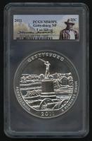 2011 5oz Silver Jumbo 25¢ - Gettysburg NP - Pennsylvania - Beautiful Park Series - Jumbo Quarter - Theodore Roosevelt Label (PCGS MS 69 PL) at PristineAuction.com