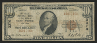 1929 $10 Ten-Dollar U.S. National Currency Bank Note with Brown Seal (The Chase National Bank of the City of New York, New York) at PristineAuction.com