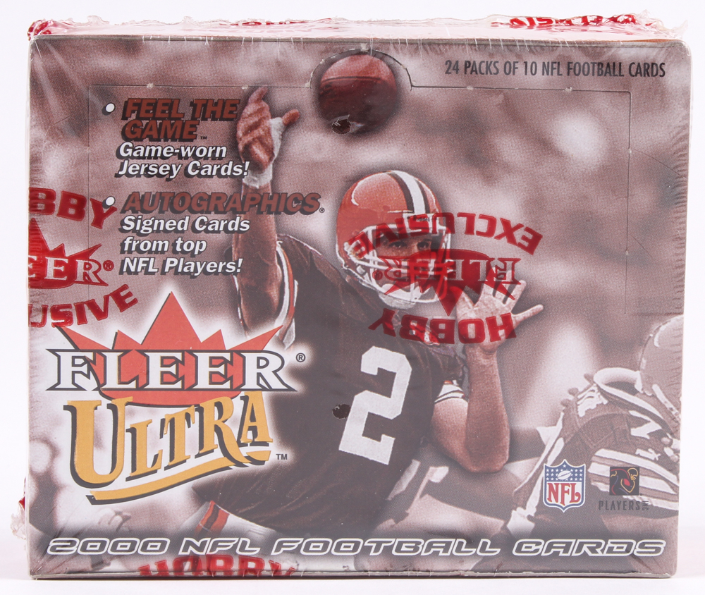2000 Fleer Ultra Football Unopened Hobby Box with (24) Packs at PristineAuction.com