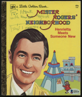 "Fred Rogers Signed ""Mister Rogers' Neighborhood: Henrietta Meets Someone New"" Hardcover Book Inscribed ""With Kindest Regards"" (Beckett COA) at PristineAuction.com"