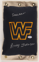"Rocky Johnson Signed WWF 80's Style Turnbuckle Inscribed ""Soulman"" (PSA COA) at PristineAuction.com"