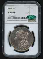 1885 $1 Morgan Silver Dollar (NGC MS 64 PL) (CAC) at PristineAuction.com