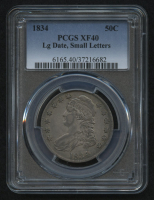 1834 50¢ Capped Bust Half Dollar - Large Date - Small Letters (PCGS VF 40) at PristineAuction.com