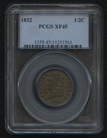 1832 1/2¢ Braided Hair Half Cent Coin (PCGS XF 45) at PristineAuction.com