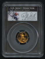 1992-P $5 Five Dollars American Gold Eagle Saint-Gaudens 1/10 Oz Gold Coin - Signed by U.S. Mint Director Philip Diehl - Deep Cameo (PCGS PR 69 DCAM) at PristineAuction.com