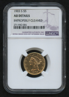 1903-S $5 Liberty Head Half Eagle Gold Coin (NGC AU Details) at PristineAuction.com