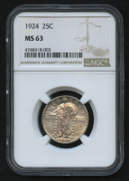 1924 25¢ Standing Liberty Quarter (NGC MS 63) at PristineAuction.com