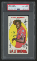 """Earl Monroe Signed 1969-70 Topps #80 RC Inscribed """"HOF 1990"""" (PSA Encapsulated) at PristineAuction.com"""