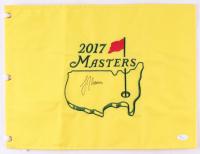 Justin Thomas Signed 2017 Masters Tournament Golf Pin Flag (JSA COA) at PristineAuction.com