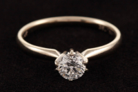 14Kt White Gold & Diamond Solitaire Engagement Ring at PristineAuction.com