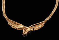 14Kt Yellow Gold Diamond Necklace at PristineAuction.com
