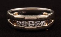 14/18Kt Two-Tone Gold & Diamond Gents Band at PristineAuction.com