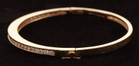 14Kt Yellow Gold Diamond Bangle Bracelet at PristineAuction.com