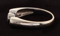 14Kt White Gold Three Stone Diamond Ring at PristineAuction.com