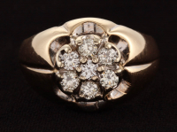 14Kt Yellow Gold & Diamond Gents Ring at PristineAuction.com